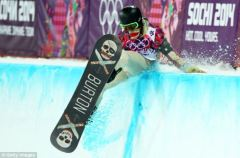 Shaun White Hits Half-Pipe