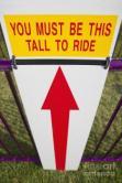 Roller coaster sign